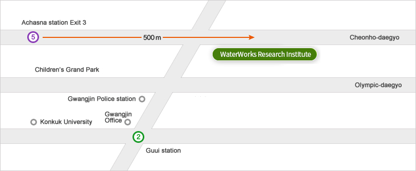 Waterworks Research Institute Location Map